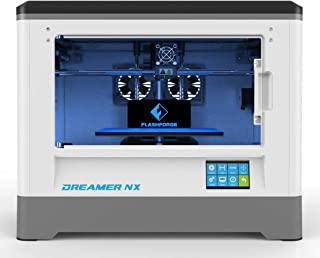 FlashForge Dreamer NX 3D Printer, Almost Fully Assembly, Works with Various Filaments Like ABS, PLA, PETG and Flexible Ones, Print from Wi-Fi, USB Cable and SD Card.