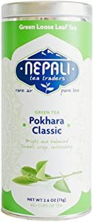 Pokhara Classic Green Tea   100% Natural Detox Tea Green Tea For Weight Loss   Loose Leaf Green Tea  Brewed as Hot Tea, Iced Tea or Kombucha Tea POWERFUL ANTI-OXIDANTS Gift From Himalayas
