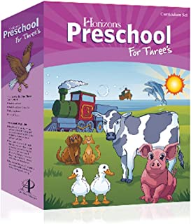 Horizons Preschool for Three's (3) Curriculum Set AOP (Alpha Omega), PRESCHOOL, PRE K KINDERGARTEN HOMESCHOOLING CURRICULUM SET