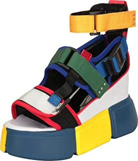 Cambridge Select Women's 90s Ugly Sporty Athleisure Chunky Platform Wedge Tourist Sandal
