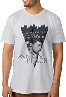 Andy Six Biersack ANDY BLACK PROFILE Musician Men's New Style T-shirts 3X White