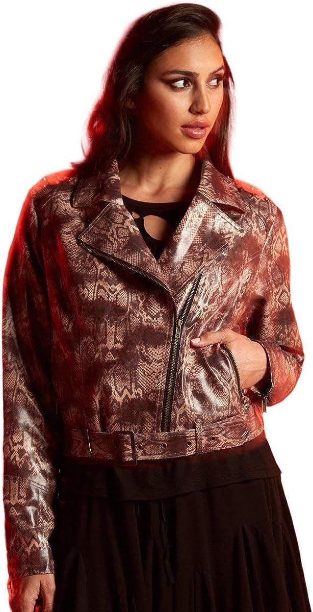 Her Universe DC Comics Wonder Woman 1984 Cheetah Girls Crop Moto Jacket