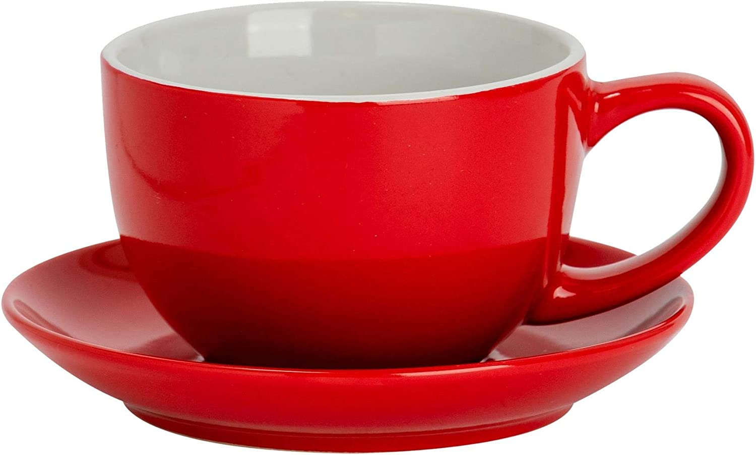 Argon Tableware 2 Piece Fixed price for sale Ranking TOP7 Coloured Cappuccino and Cup Saucer - Set