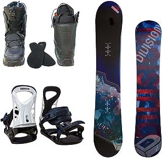 メンズ スノーボード3点セット スノボー+バインディング+クイックシューレースブーツ
