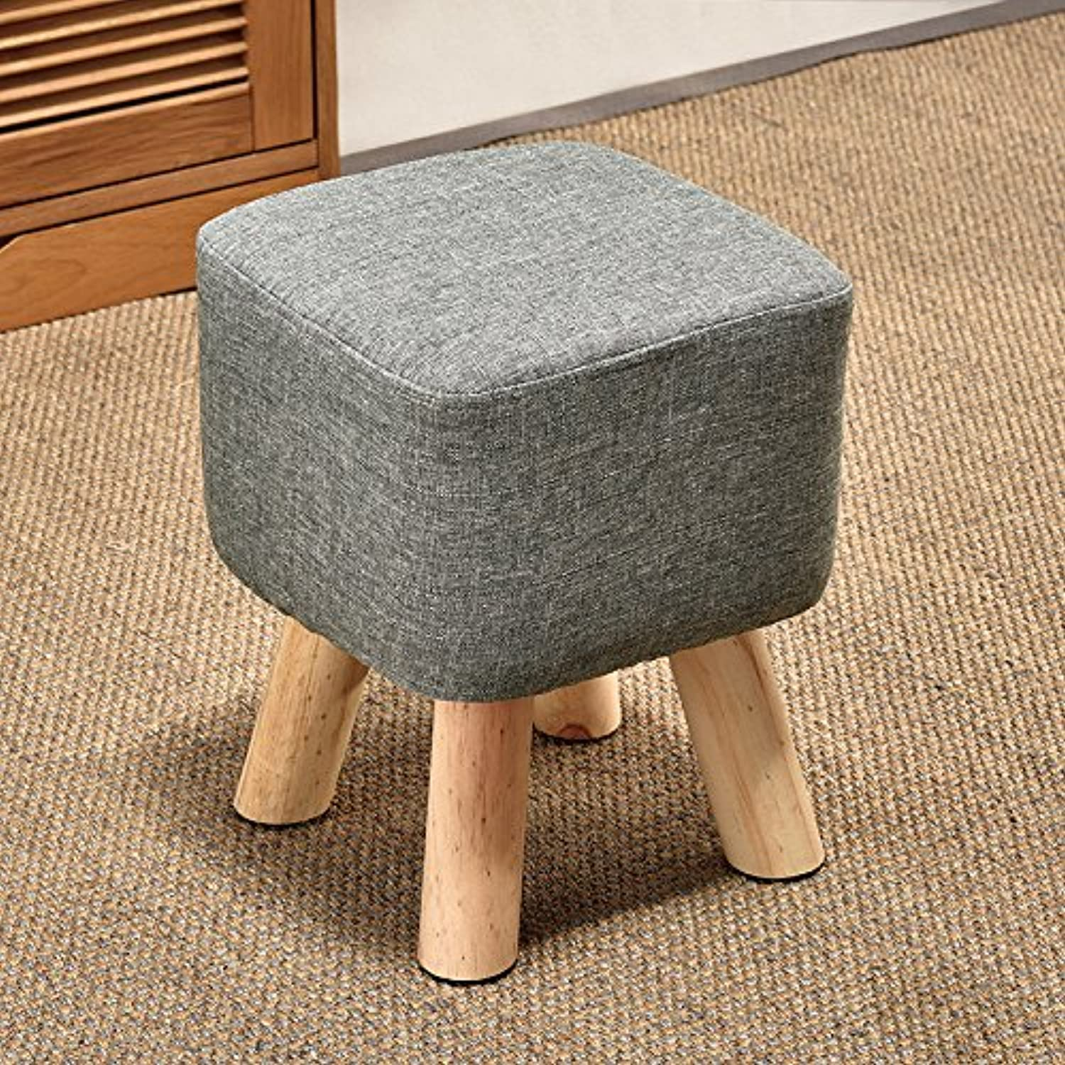 Dana Carrie The High stool Wooden stool Creative Living in Other shoes is Stylish Cloth Sofas stools Benches, Green