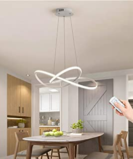 Lámpara Colgante LED Lámpara De Techo De Sala De Estar Simple Regulable Con Control Remoto Lámpara Colgante De Metal Creativo Lámpara De Mesa De Comedor De Cocina Altura Ajustable 40W