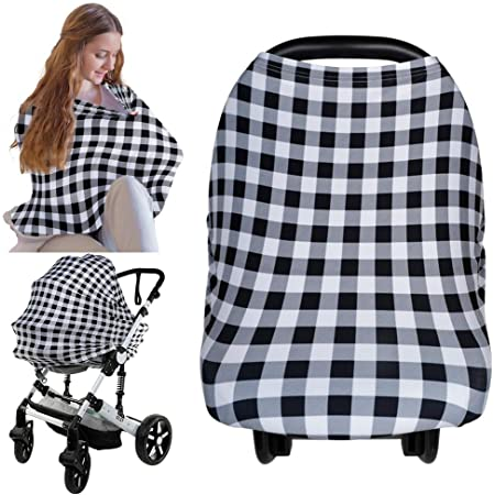 Car Seat Canopy by KeaBabies Nursing Cover for Baby Breastfeeding Boys Infinity Nursing Cover Up for Girls Dainty Bloom All-in-1 Soft Breathable Stretchy Carseat Canopy