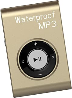 #N/A Mp3 Music Player FM Radio with Clip IPX8 Waterproof Level Home Car - Gold - Gold