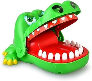 RANRANJJ キッズファミリーゲームキッドリアクションゲーム玩具のための古典的な噛み手ワニゲーム