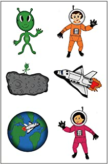 Premium Astronaut Tattoos, Space Party Favors, Temporary Tattoo