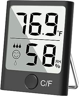 Cbiumpro Hygrometer Indoor Thermometer Digital Humidity Gauge Accurate Temperature Humidity Monitor Meter for Living Room, Greenhouse, Wine Cellar, Basement, Gun Safe, Bathroom, Closet, Humidor