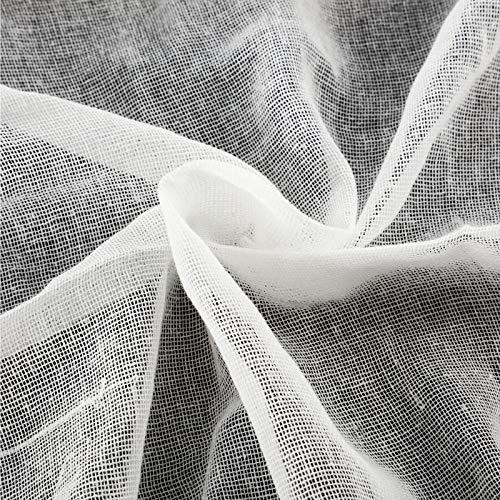 Paño de Queso, Tela de Algodón sin Blanquear Paños de Muselina Ultrafinos para Mantequilla, Cocina, Horneado, Paño Casero para Colar, Blanco (90 x 200 cm)