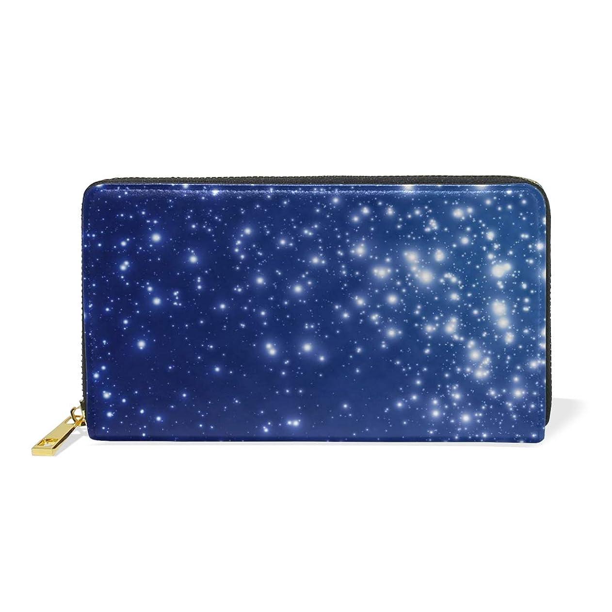 重々しいウォルターカニンガム気球マキク(MAKIKU) 長財布 レディース 大容量 宇宙柄 星 レザー 革 プレゼント対応
