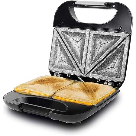 Taurus 968419000 Grill Toast Sandwichera Con Placas Grill Antiadherentes 700 W Tapa Basculante Gancho Fijo De Cierre Bandeja Recoge Grasas Color Negro Taurus Amazon Es Hogar Y Cocina