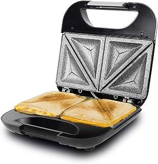 Cecotec Parrilla Eléctrica Rock´n Toast Fifty-Fifty. Revestimiento Antiadherente RockStone, Capacidad para 2 Sandwiches, S...