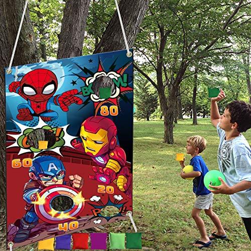 Superhero Themed Toss Games Banner …