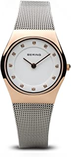 BERING Time 11927-064 Womens Classic Collection Watch with Mesh Band and Scratch Resistant Sapphire Crystal. Designed in Denmark.