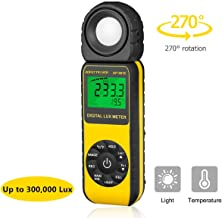 Digital Light Meter Illuminance Meter Lux Meters AP-881E with Display 3999(Range from 1~300,000Lux),Unit Lux/Fc,MAX/MIN,Back Light,Data Hold,Data Storage