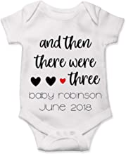 Custom Pregnancy Announcement Onesie Reveal and Then There were 3 Baby