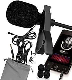 RockDaMic Professional Lavalier Microphone Best Clip-on System Lapel Mic Condenser for Recording, Youtube, DSLR, Interview and ASMR Microphone