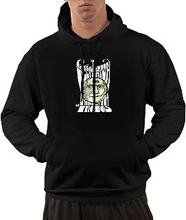Seanyet Men's Claypool Lennon Delirium Leisure Long Sleeve Fleece Hoodie Pullover with Pocket Black