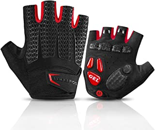 ROCK BROS Road Cycling Gloves for Men Women Commuter Gloves Half Finger Biking Gloves with Gel Padded Shock Absorbing, Breathable Anti Slip Road Bike Gloves for Summer Bicycling Riding