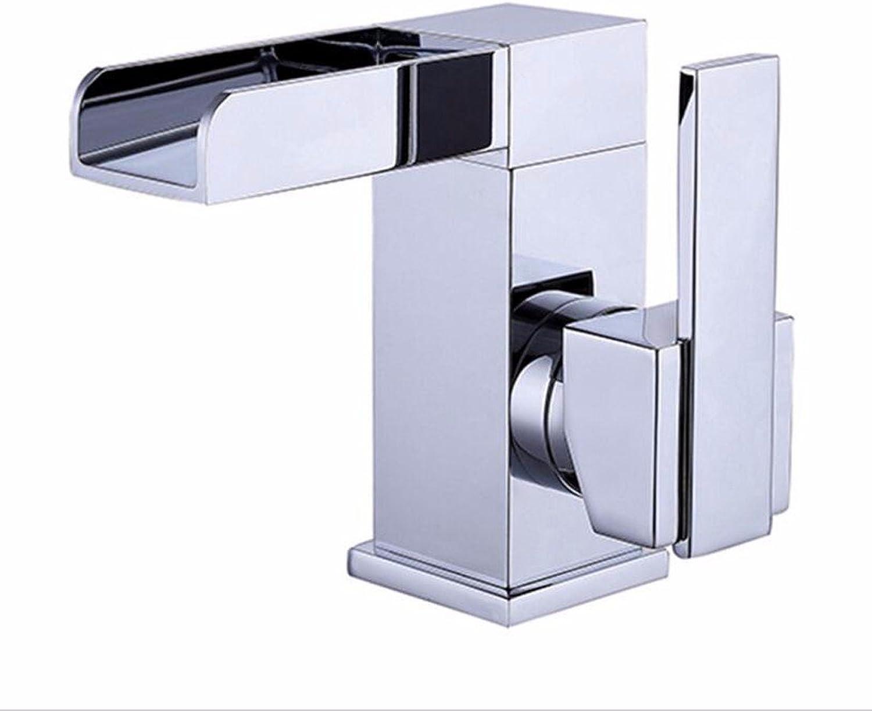Waschtischarmatur Wasserhahn Mit Herausziehbarer Dual-Spülbrause Wasserhahn Kupfer Bad Eitelkeit Wasserhahn, Kreative Wasserfall Waschbecken Wasserhahn, Eingebaute Warm- Und Kaltwassermischer
