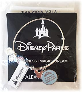 Disney Parks Alex and Ani Cinderella A Dream Is A Wish Your Heart Makes Bracelet (Silver finish)