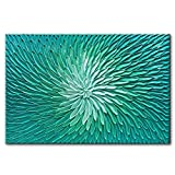 Tyed Art- Blue green gradient Abstract Oil Painting On Canvas Texture Abstract Artwork Canvas Wall Art Paintings Modern Home Decor Abstract Oil Painting 24x36inch