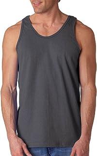 Gildan Men's Ultra Cotton Easy Fit Layered U-Neck Tank Top