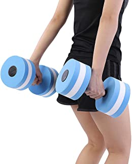 Fitness Dumbbell, 1 Pair Foam Heavy Resistance Barbells Pool Barbell Float Aqua Exercises Equipment Sports Aquatic Exercis...