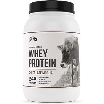Levels 100% Grass Fed Whey Protein, No GMOs, Chocolate Mocha, 2LB