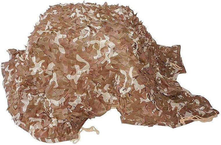 Bache de tente Tente d'auvent en toile de prougeection de camouflage en mode désert, tissu Oxford, prougeection des plantes, camping, caché, plusieurs tailles, en option (taille  3  3m) Filet de camoufla