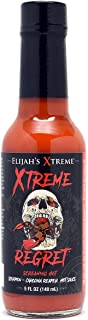 Elijah's Xtreme Regret Hot Sauce - SUPER Hot - Hot Sauce made with World's Hottest Peppers, Trinidad Scorpion and Carolina Reaper for Xtreme Fiery Heat