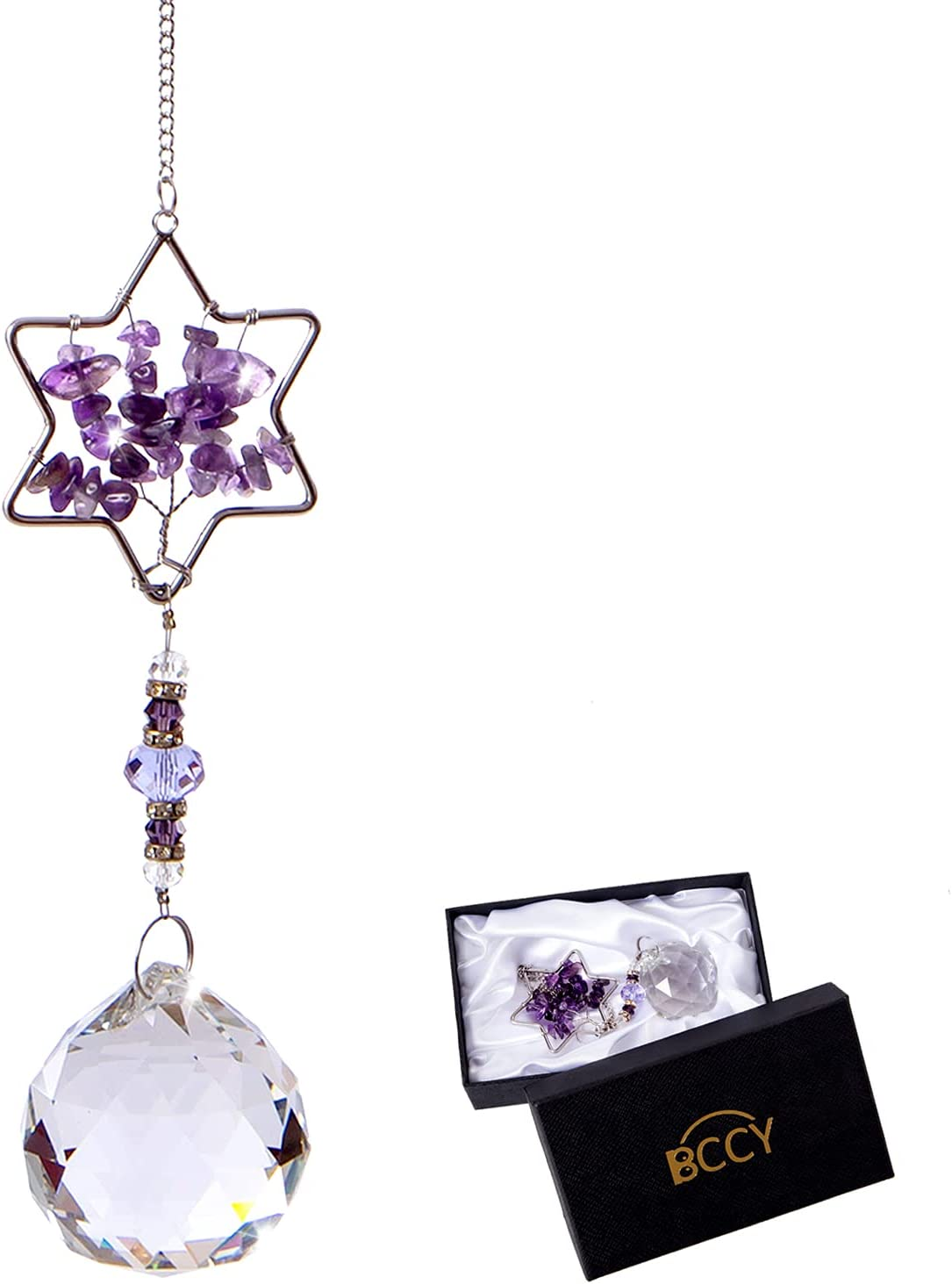 BCCY Crystal Suncatcher Ball Prism Ornament Sun Hanging Pendant Price reduction Ranking TOP18
