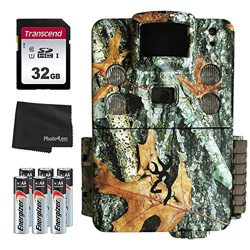 Browning Strike Force APEX 18MP Trail Camera (Camo) BTC-5HD-APX + 32GB SD Card + 8 AA Batteries and Lens Cleaning Cloth