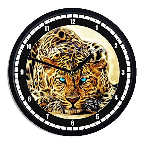 Reloj de pared de plástico Tigre Patience is power