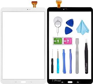 Tefir Blanco Pantalla táctil digitalizadora de Cristal para Samsung Galaxy Tab A 10.1 (2016) T580 T585 SM-T580 SM-T585 (sin LCD) con Adhesivo y Herramientas