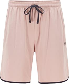 BOSS Mens Mix&Match Shorts Stretch-Cotton Loungewear Shorts with Contrast Piping