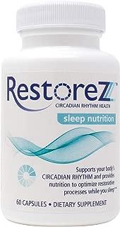 RestoreZ Sleep Nutrition (60 Capsules) Natural Sleep Aid Supplement - Restore Restful Sleep and Circadian Balance - Non-Habit Forming Sleep Vitamins