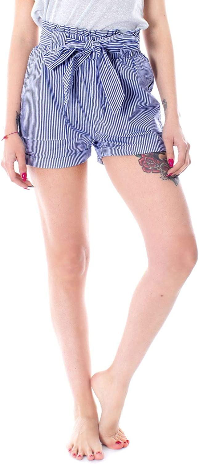 Only Women's 15154906blueE bluee Cotton Shorts