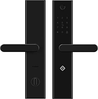PINEWORLD WiFi and Bluetooth Smart Door Lock, L5 Electronic Keyless Entry Door Mortise Lock,RFID Cards +App Remotely and Apartment Manage for Door Lock Security, Handle Reversible(Backset-2 3/8'')
