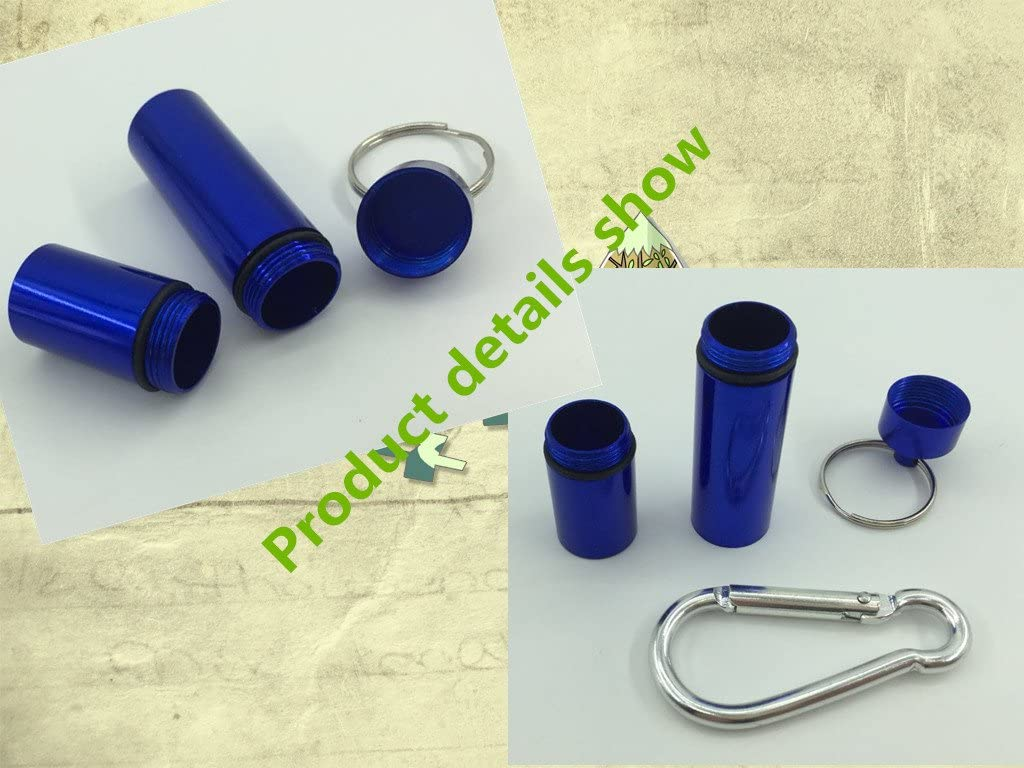 Portable Perfect Size Toothpick Holder-Pocket Perfect Size Pill Box-Portable Toothpick Box Aluminum Alloy-Travel Waterproof Toothpick Case Blue