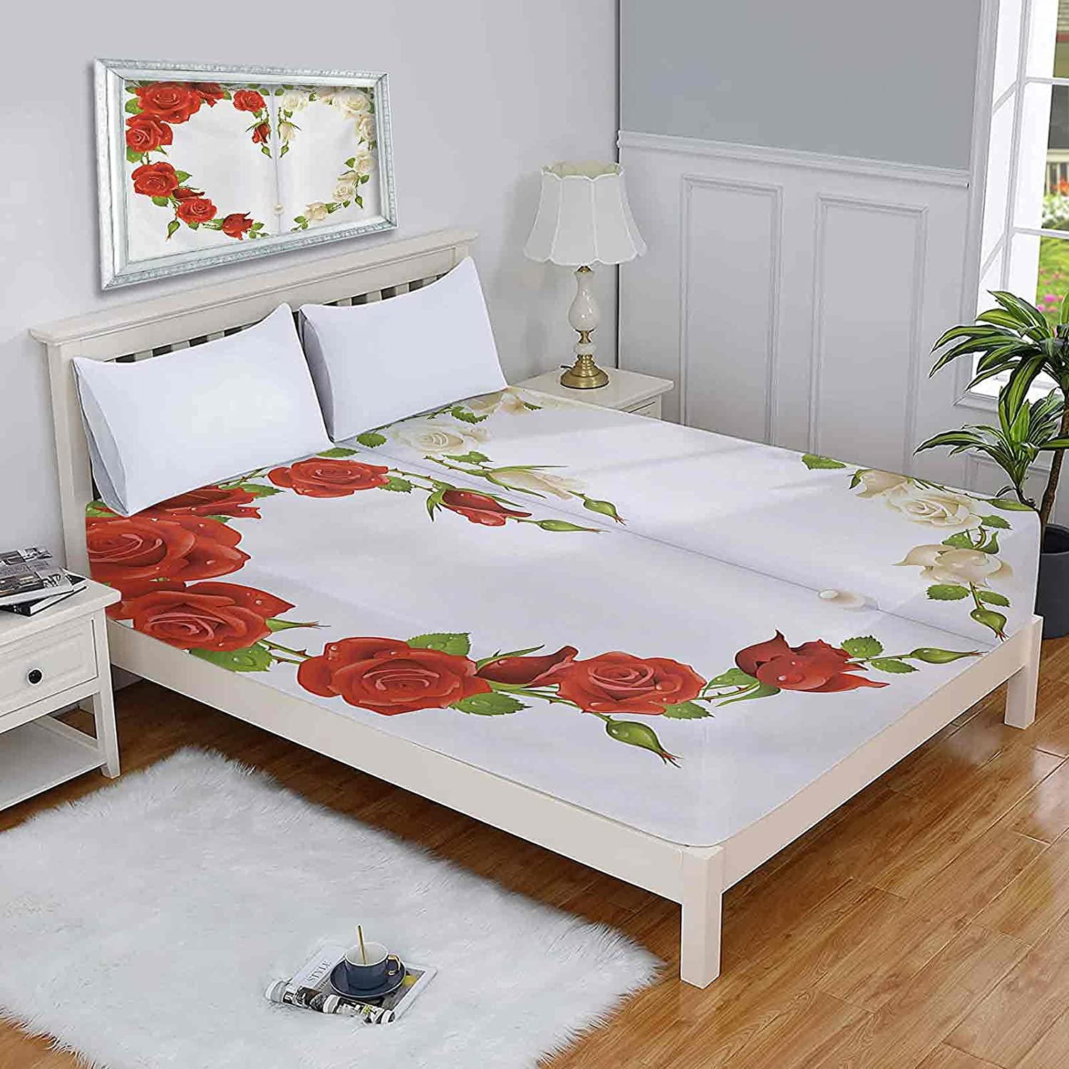 Pearls Full Mattress Protector Roses in Bouq In stock Shape The of ...