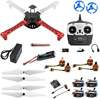 QWinOut Full Set T450 DIY RC Quadcopter Kit 450mm Frame KK V2.3 Xcopter Flight Controller T8FB Remote Control DIY Drones for Adults