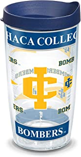 Tervis 1081111 Ithaca College Wrap Individual Tumbler with Navy lid, 16 oz, Clear