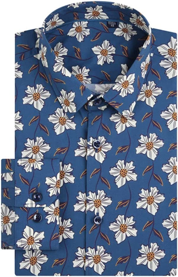 DIAOD Men's Holiday Discount is also underway Casual Sale item Beach Print Hawaiian Floral Po Shirts