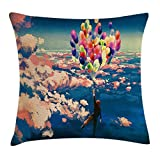 Adventure Decor Throw Pillow Cushion Cover, Man Flying with