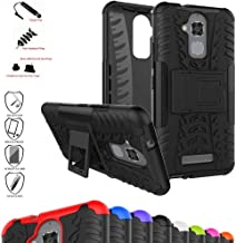 Zenfone 3 Max ZC520TL Case,Mama Mouth Shockproof Heavy Duty Combo Hybrid Rugged Dual Layer Grip Cover with Kickstand for ASUS Zenfone 3 Max ZC520TL(with 4 in 1 Packaged),Black