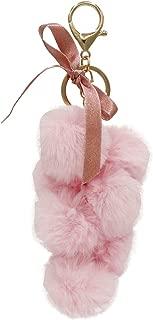 Cute Faux Fur Pom Pom Keychain Key Chain Bag Charm for Women